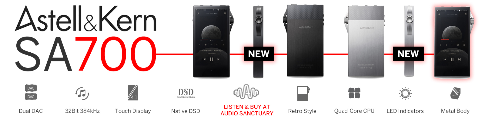SA700 Portable Digital Audio Player | Available Now At Audio Sanctuary