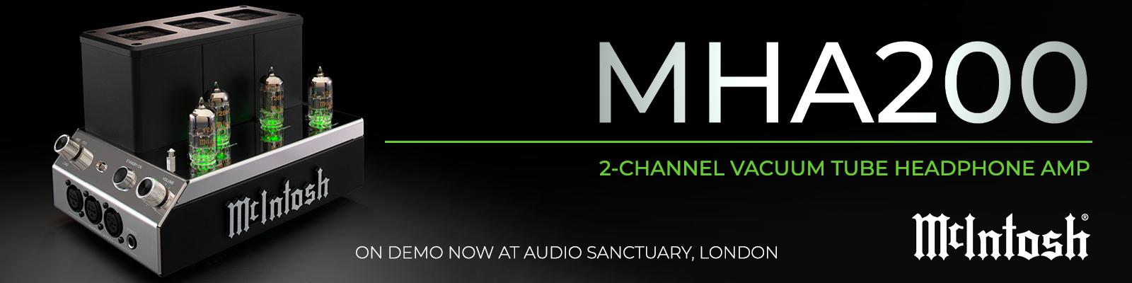 MHA200 2-Channel Vacuum Tunbe Headphone Amp, by McIntosh