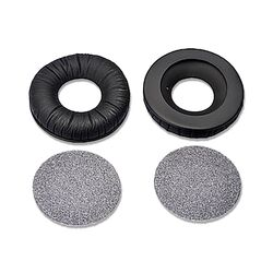 Replacement Black Ear Pads + Foam Discs (Pair) for HD25 Headphones | Sennheiser