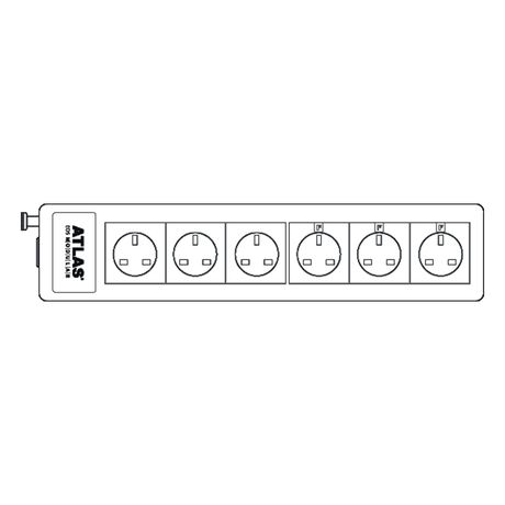 Eos Modular 4.0 Mains Power Distribution Block (with x3 Filtered Sockets) | Atlas Cables