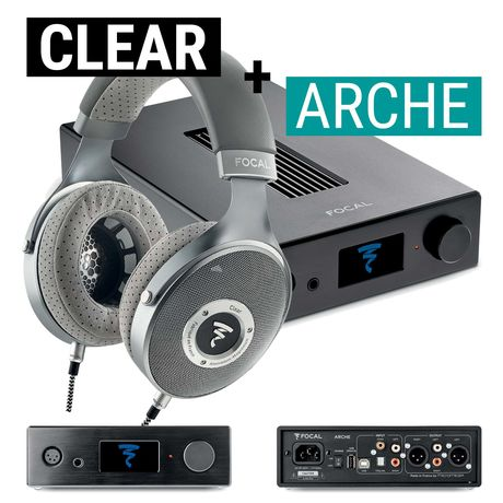 Arche Headphone Amp / DAC + Clear Open-Back Headphones | Focal Bundle Deal