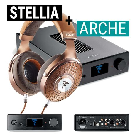 Arche Headphone Amp / DAC + Stellia Closed-Back Headphones   Focal Bundle Deal