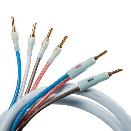 Quadrax Speaker Cable (Bi-Wire Configuration)   Supra Cables