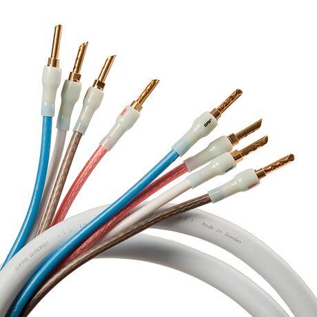 Quadrax Speaker Cable (Bi-Amp Configuration)   Supra Cables